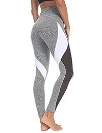 Queenie Ke Women Yoga Pants Blocking Mesh Workout Color Running Leggings Tights