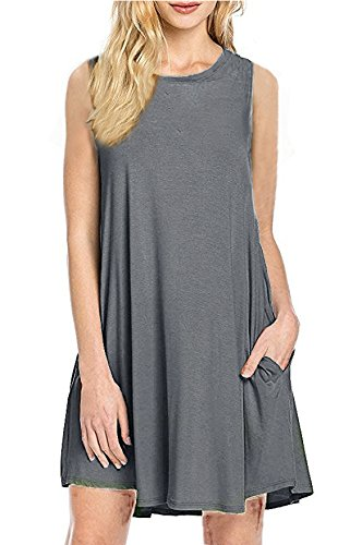 55922e9464b Womens-Sleeveless-Pockets-T-Shirt-Dress-Casual-Loose-Tank-Top-Swing ...