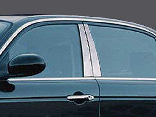 QAA FITS XJ SERIES 2004-2009 JAGUAR (4 Pc: Stainless Steel Pillar Post Trim Kit, 4-door) PP24094 by QAA