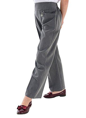 Pantalons Filles Ans Élégant 14 Coeur Eesa Boucle Heart Grey amp; 2 Bouton École Adam Fleur Uniforme wTBCYfSxqE