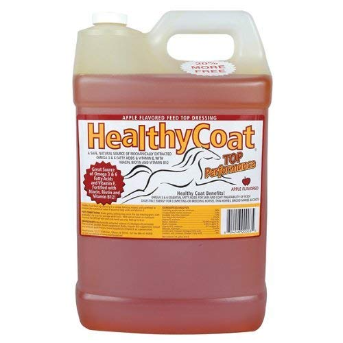 HealthyCoat Equine Skin Coat Weight Gain Energy Muscle Supplement 2.5 Gallons