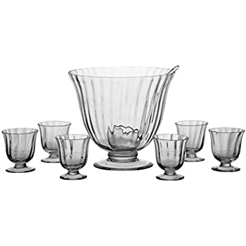 Aspen 8 Piece Punch Set//Cocktail Punch Bowl Set Perfect for Parties or as a Gift