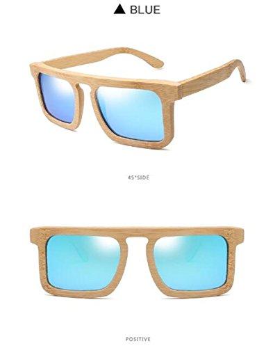 Hecho Sol Sombreado Polarizadas Madera A De Vendimia Z Mano De De Resina Gafas Anti Blue Unisex De De Bambú La amp;HA Marco Niebla Lente Moda Gray De Gafas w66xZ41tq