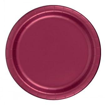 amazon com 240 burgundy wine 10 pks of 24 7 inch wax coated plain