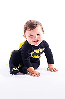 Cute Batman Footie Pajamas with Cape for Toddler Boy