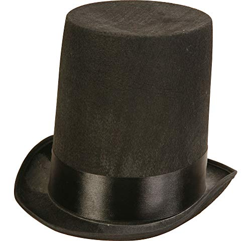 AMSCAN Black Stovepipe Hat Halloween Costume Accessories, One Size