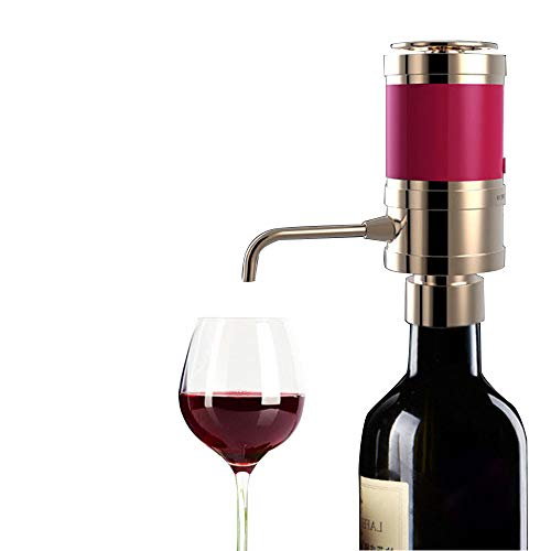 Sorbo Electric Wine Aerator Dispenser, Portable and Automatic Bottle Breather Pump with Metal Pourer Spout - Air Decanter Diffuser for Red and White Wine Gold (Without Battery) B07CHKJP2J by Sorbo