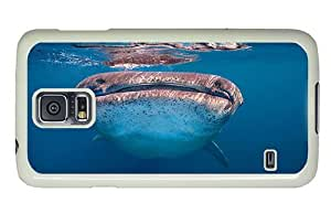 Hipster Samsung Galaxy S5 Case girly cases whale shark 1 PC White for Samsung S5