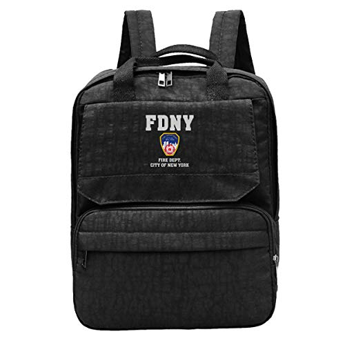 WUHONZS Travel Backpack Fire Department City of New York Gym Hiking Daypack College Laptop and Notebook Bag for Women & Men (New York Department Of Design And Construction)