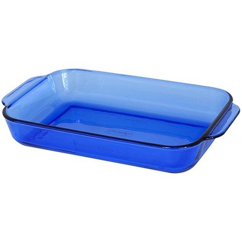 Pyrex Bakeware 11-by-7-Inch Rectangular Baking Dish, Cobalt Bakeware Cobalt Rectangular Baking Dish
