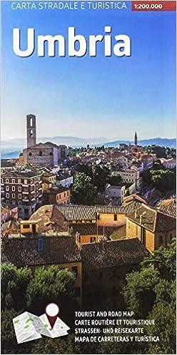 Umbria Cartina Turistica.Carta Stradale E Turistica Plastificata Umbria 1 200 000