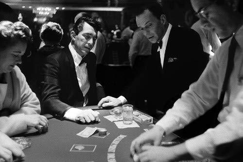 Dean Martin and Frank Sinatra in Ocean's Eleven at Las Vegas casino card table 11x17 Mini Poster