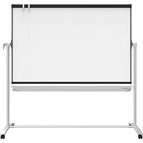 Quartet Presentation Easel, 6' x 4', Mobile, Reversible Magnetic Whiteboard/Flipchart, Prestige 2 Mobile, Graphite Frame (ECM64P2) ()
