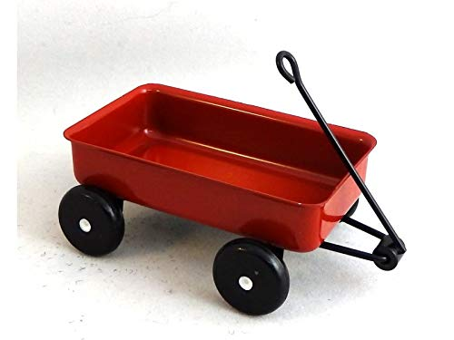 1:12 Scale Large RED Metal Wagon #D4197