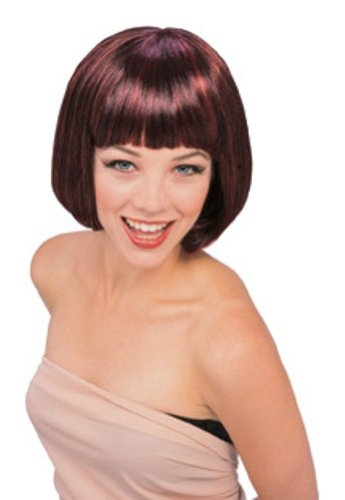 Rubie's Costume Supermodel Wig, Black/Red, One (Womens Black Super Model Wig Costumes)