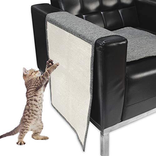 (Lovinouse Cat Scratching Mat, Sisal Sofa Shield, 2 in 1 Use Cat Scratch Pad and Furniture Protectors, Durable and Washable)