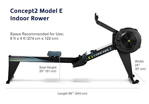 Concept2 Model E with PM5 Performance Monitor Indoor Rower Rowing Machine Black by Concept2 (Image #4)