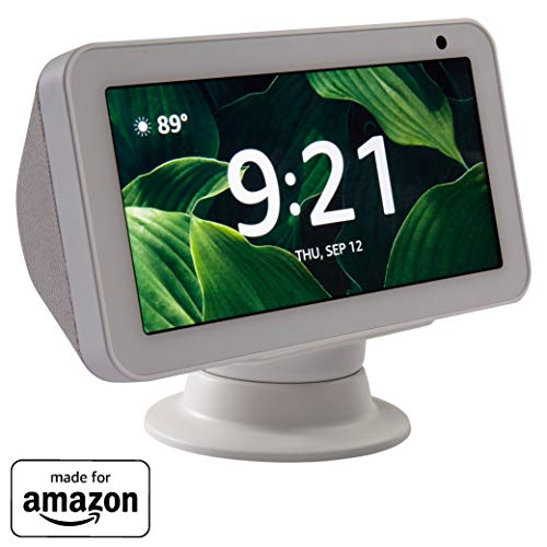 """Made for Amazon"" Premium Tilt + Swivel Stand for the Echo Show 8 – White"