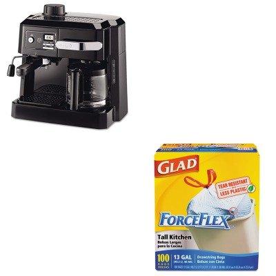KITCOX70427DLOBCO320T - Value Kit - Delonghi BCO320T Combination Coffee/Espresso Machine (DLOBCO320T) and Glad ForceFlex Tall-Kitchen Drawstring Bags (COX70427)