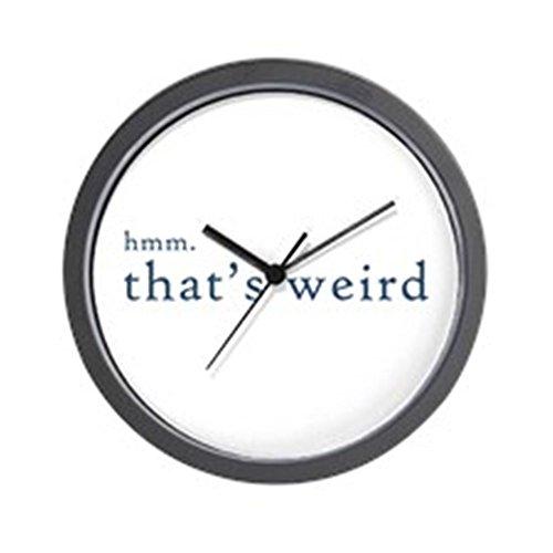 "CafePress - hmm thats weird... Wall Clock - Unique Decorative 10"" Wall Clock"