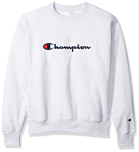 Champion LIFE Men's Reverse Weave Crew, Silver/Gray, XX-Large