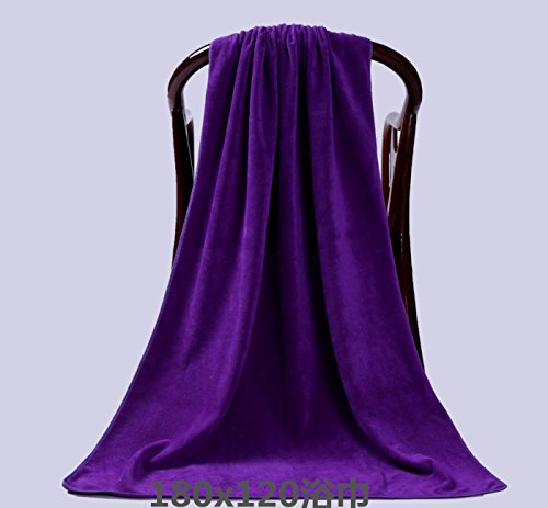 Claee 180X120 Beauty Salon, Bath Towel, Bed Towel, Big Towel, Widening Towel, Foot Bath, Sofa Towel,Deep Purple Bath Towel Expert