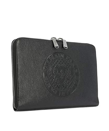 W8HM119PGMN176 Leather Men's Black Balmain Clutch OfFqzgx