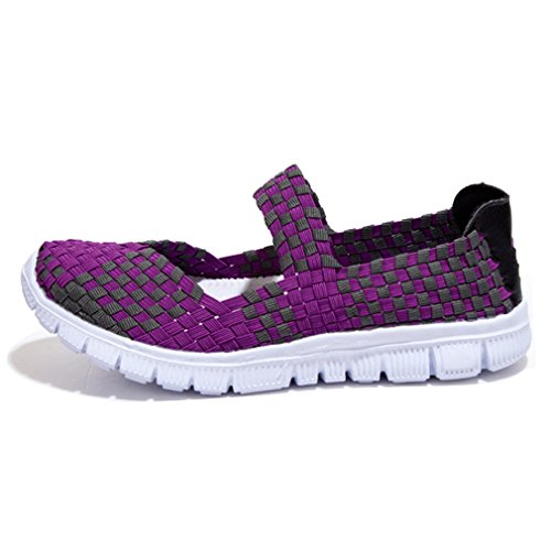 Dearwen Kvinna Andas Slip-on Walking Skor Lila