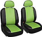 seat cover expedition - Motorup America 6 Piece Leather Seat Cover Set - Fits Select Vehicles Car Truck Van SUV - Green & Black