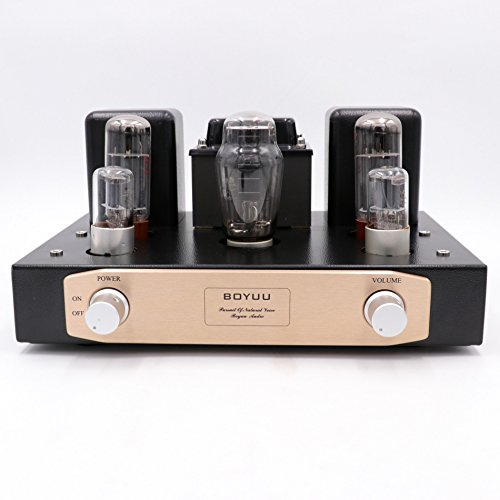 BOYUU Hifi Class A Single End EL34 Tube Amplifier 2x12W Hand Wired Vintage Integrated AMP EL34Bx2 6N9Px2 5Z3PJx1