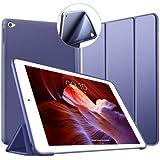 VAGHVEO iPad Air 2 ケース 超薄型 超軽量 TPU ソフトスマートカバー オートスリープ機能 衝撃吸収 三つ折りスタンド 全7色 for Apple iPad Air 2 9.7インチ - ネービーブルー