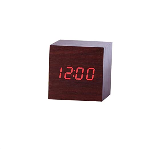 Amazon.com: Digital Thermometer Wooden LED Backlight Voice Control Retro Clocks: Clothing