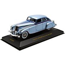Ixo 1/43 Scale Prefinished Fully Detailed Diecast Model, 1933 Pierce Arrow Silver Arrow 4-Door Sedan, Metallic Silver Blue #MUS045