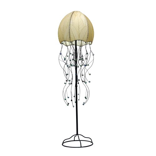 399 N 2 Light Jellyfish Floor Lamp (Leaf Torchiere Floor Lamp)