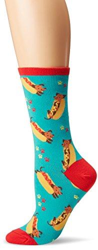 (Socksmith Women's Wiener Dog Blue One Size)