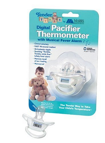 TenderTykes Digital Pacifier Thermometer, White, Baby & Kids Zone