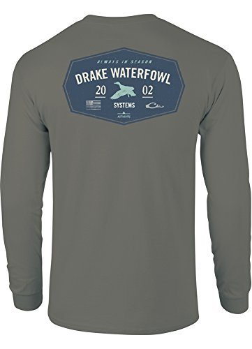 Drake Waterfowl 2002 T-Shirt Long Sleeve, Grey, ()