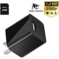 Hidden Camera, NISHLEY Spy Camera Wireless Hidden 1080P Camera Wall Charger Security Camera with Motion Detection 32GB Internal Memory