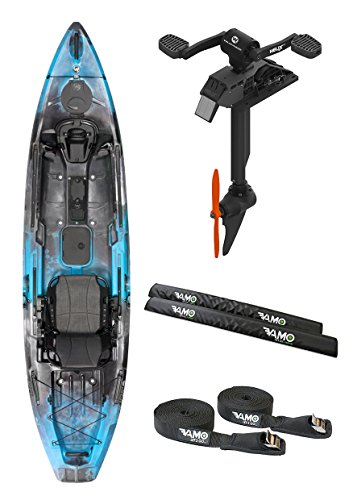 2017 Wilderness Radar 115 Fishing Kayak Package with Helix PD Pedal Drive System, Vamo Roof Rack Pads and Vamo Tie Down Set. (Helix HD Drive NOW SHIPPING))