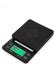 ميزان مطبخ ديجيتال الكتروني صغير بمؤقت للقهوة v60 مناسب لسطح الطاولة - 0.1-5000 جم
