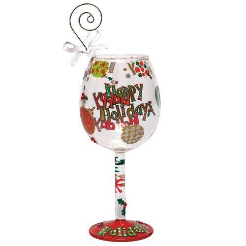 Santa Barbara Design Studio Lolita Holiday Mini-Wine Ornament, Happy Holidays