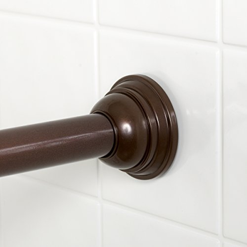 Zenna Home 775rb Tension Shower Curtain Rod 44 To 72 Inch Oil Rubbed Bronze Buy Online In