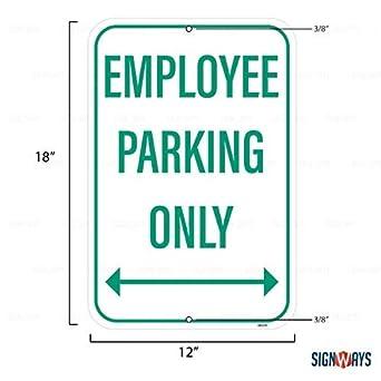 Amazon.com: Señal de aparcamiento para empleados solo ...
