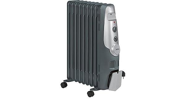 Mobile Stand Calefacción RADIADOR DE ACEITE con 9 costillas calefacción eléctrica 3 niveles ruedas (Potencia 2000 W, termostato, calefacción): Amazon.es: ...