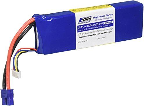 E-flite 3200mAh 3S 11.1V 20C LiPo, 13AWG: EC3, EFLB32003S