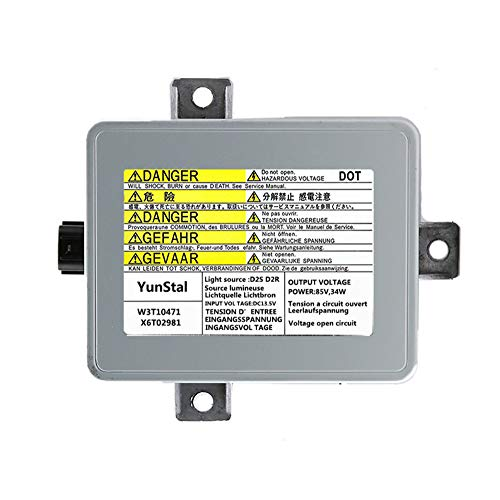 Xenon HID Headlight Ballast Control Unit Module with Fast Startup Safe Stability for 2002-2005 Acura TL & 2004-2005 Acura TSX & 2004-2006 Mazda 3 Replace# W3T10471 X6T02981