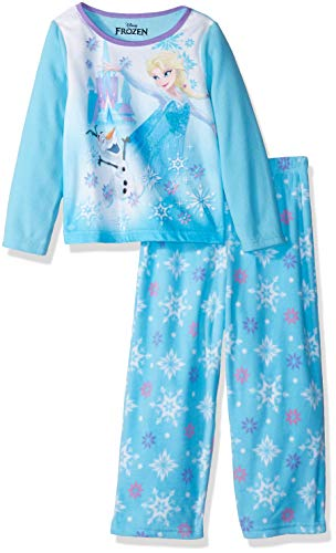 Disney Girls' Toddler Frozen Elsa 2-Piece Fleece Pajama Set, ICY Olaf, 2T