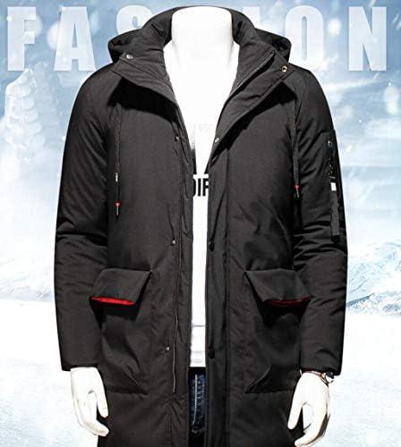 Men's Winter Jacket Loose Cotton Jacket Windproof Jacket Lightweight Storage Down Jacket (Color : BLACK, Size : L)