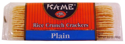 Kame Plain Rice Crunch Cracker, 3.5 Ounce - 12 per case.