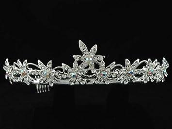 06ad576c9 Amazon.com: Bridal Party Wedding Swarovski Crystal Crown Tiara T57 ...
